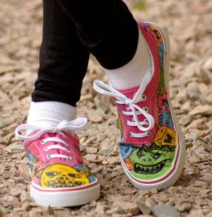 Kids Fun Hand Painted Shoes