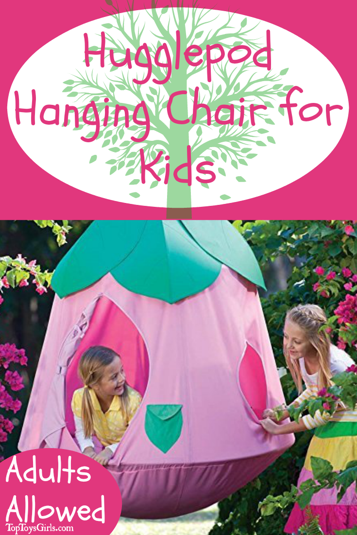 Hugglepod Hanging Chair perfect for hanging in her bedroom or outside. Climb in for relaxing snuggle time.