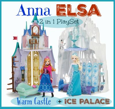 Disney Frozen 2 in 1 Castle Playset