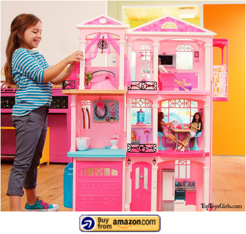 Barbies Dream House with Elevator 8