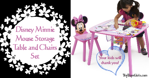 & Disney Minnie Mouse Storage Table and Chairs Set! What Fun!!!