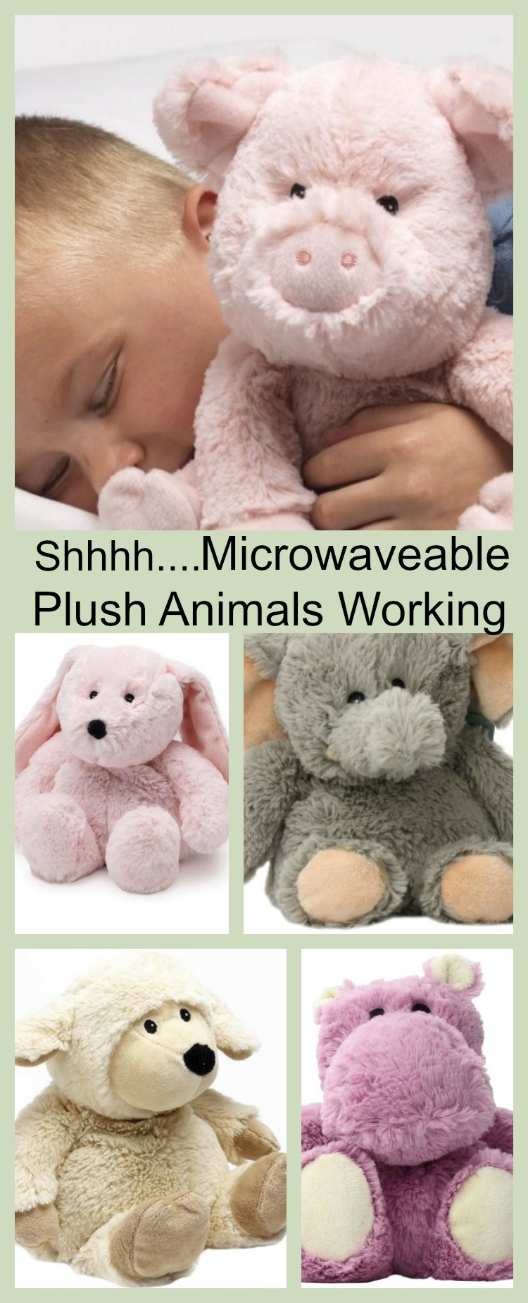 Shhhh...Microwaveable Plush Animals Working