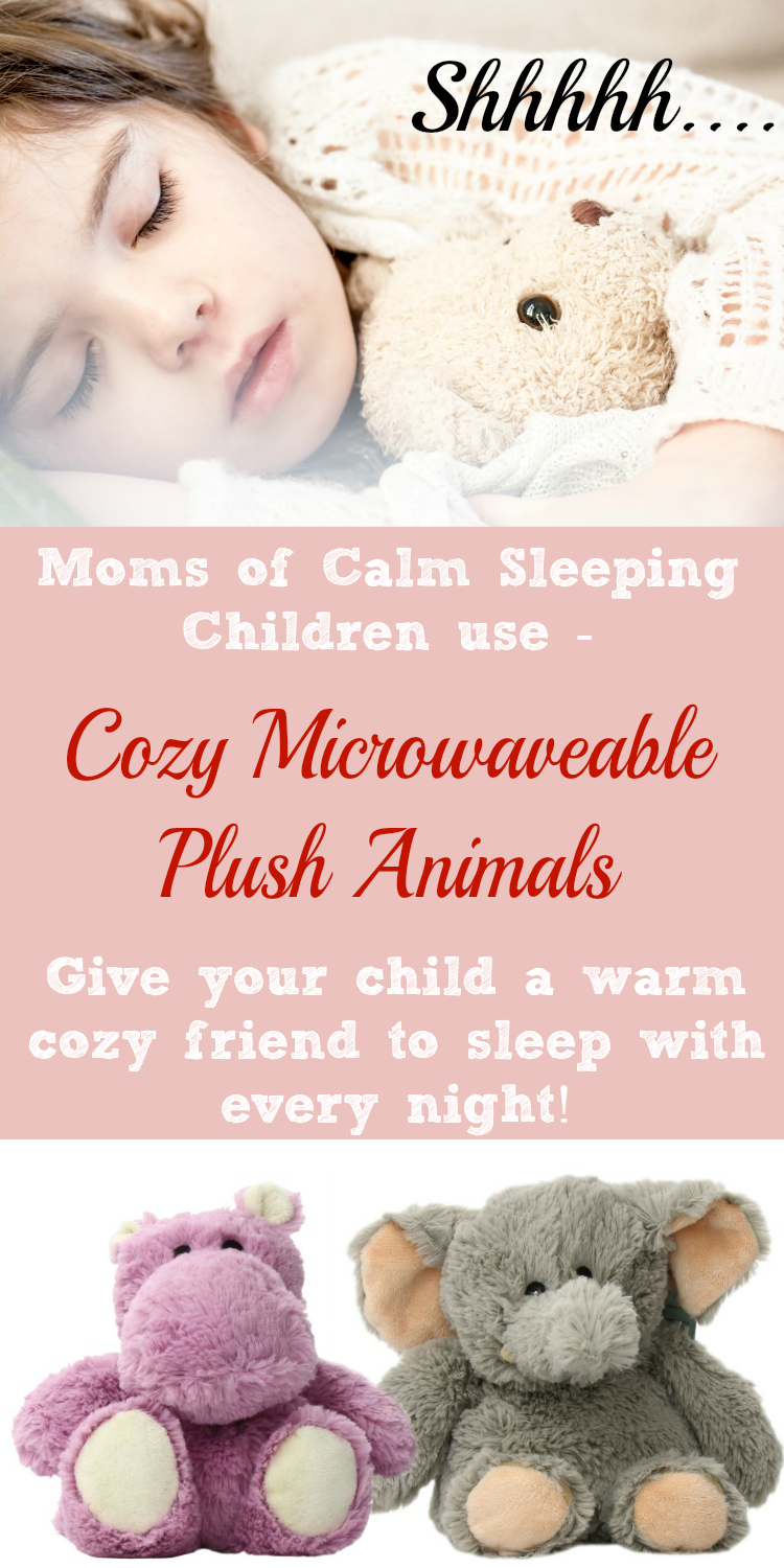 Warm Microwaveable Plush Animals for your child to sleep with tonight.