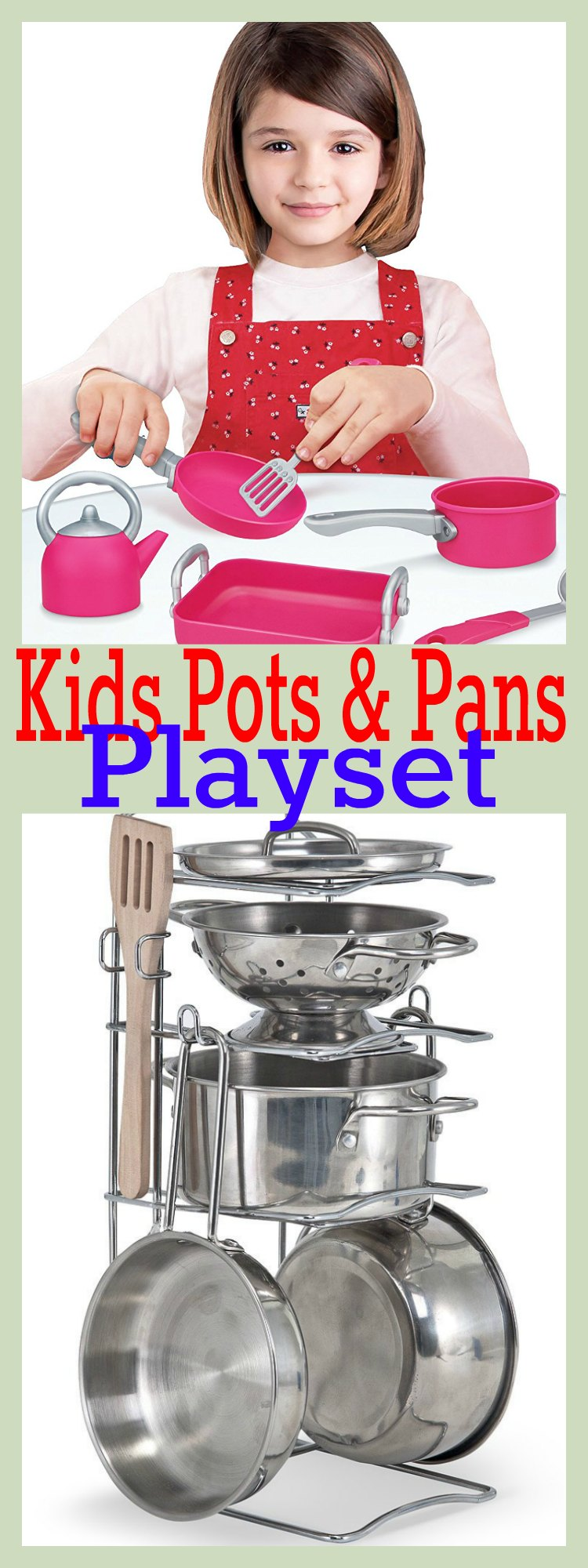 Kids Pots and Pans Playset