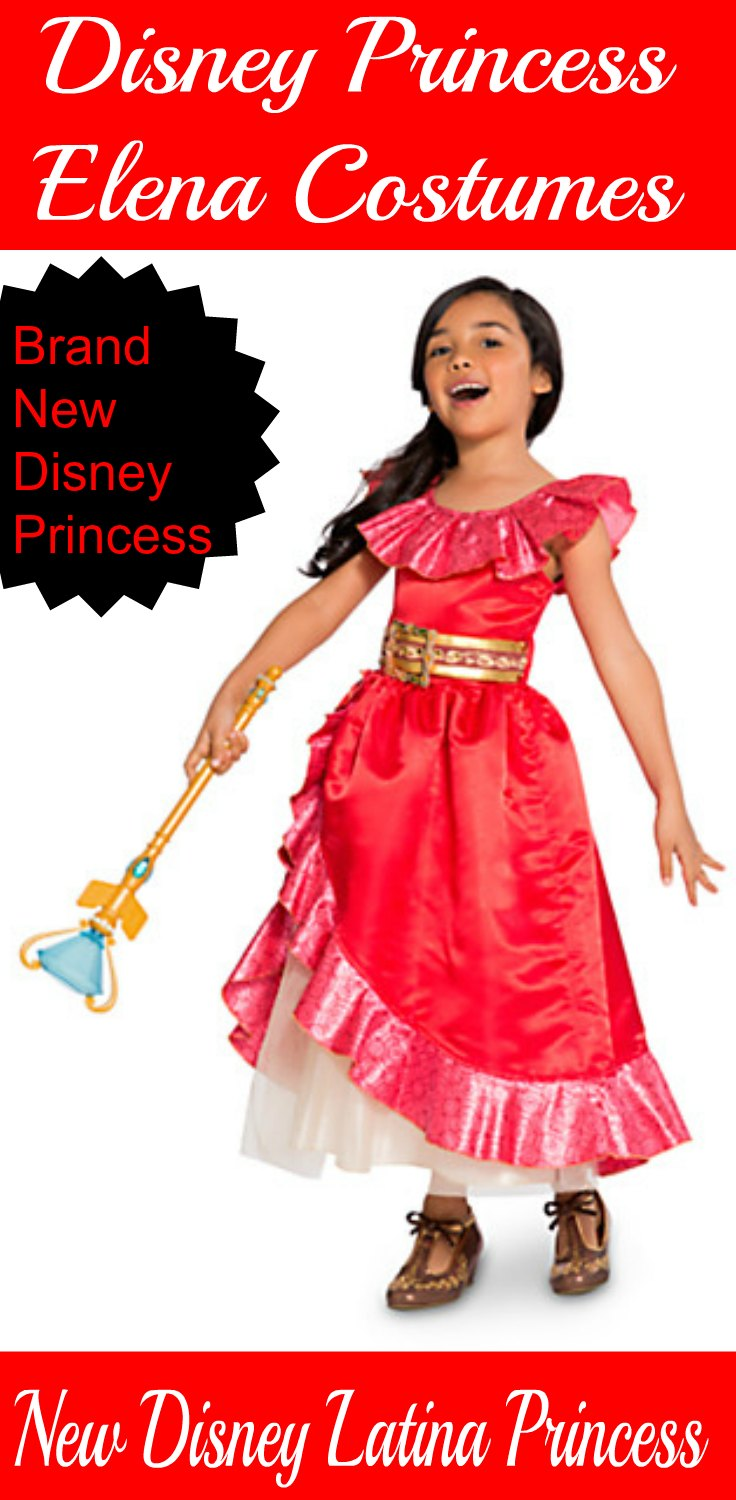 Disney Princess Elena Costumes. With the new TV Show, Elena of Avalor, girls will want a costume to make them feel like Princess Elena. Very first Disney Latina Princess