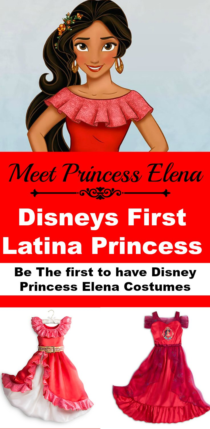 Meet Princess Elena - Disney First Latina Princess. Be the first to have a Disney Princess Elena Costume for play or parties. Did you know this is the first Disney Princess to wear red