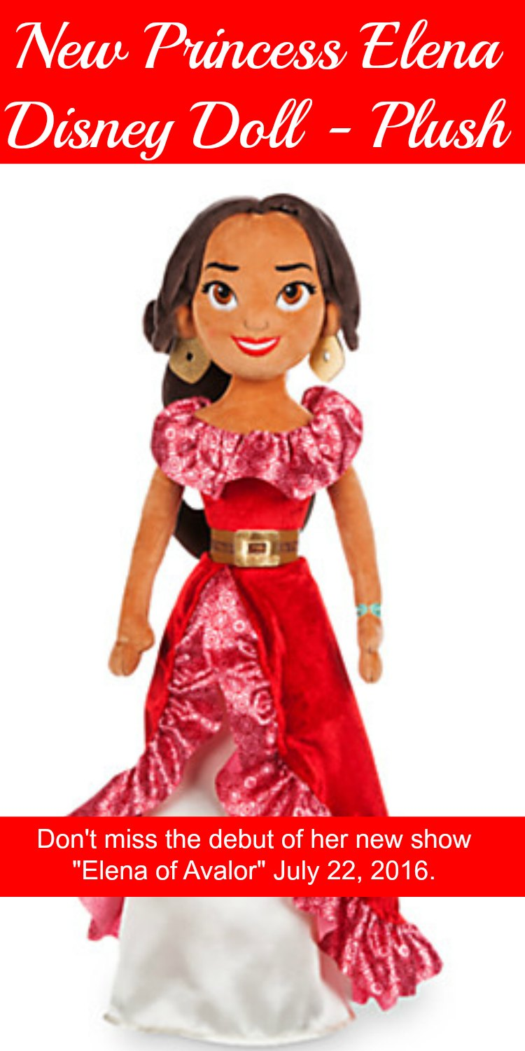 Plush Princess Elena Disney Doll. Disneys brand new doll from the show Elena of Avalor. Don't miss it!