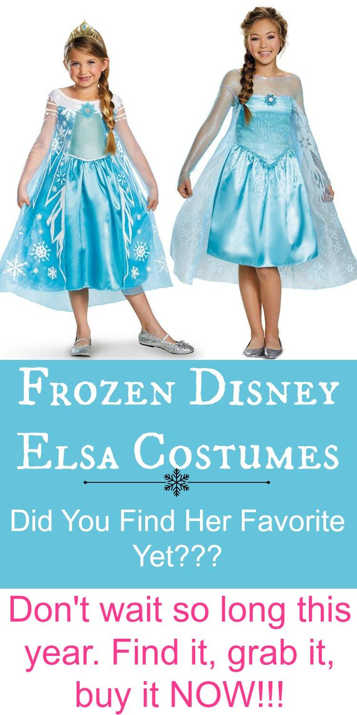 Frozen Disney Elsa Costumes