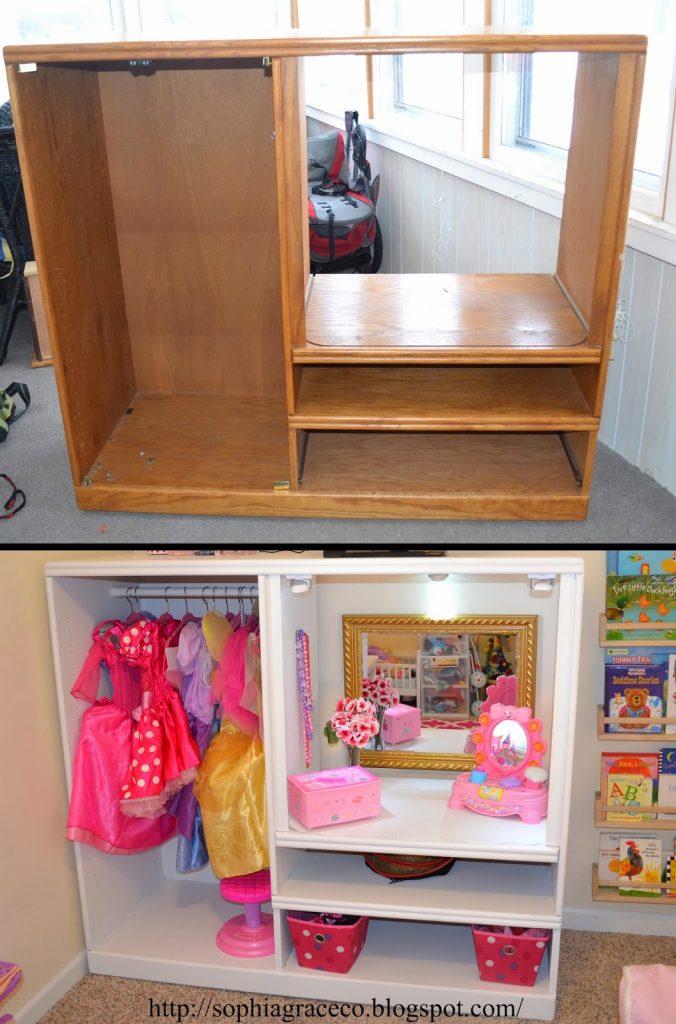 Another Great Girls DIY Dress Up Storage Center Idea