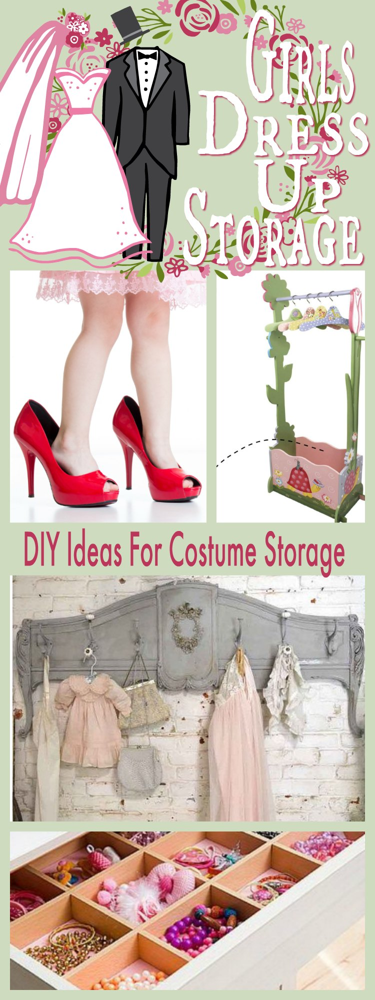 Girls Dress Up Storage Ideas