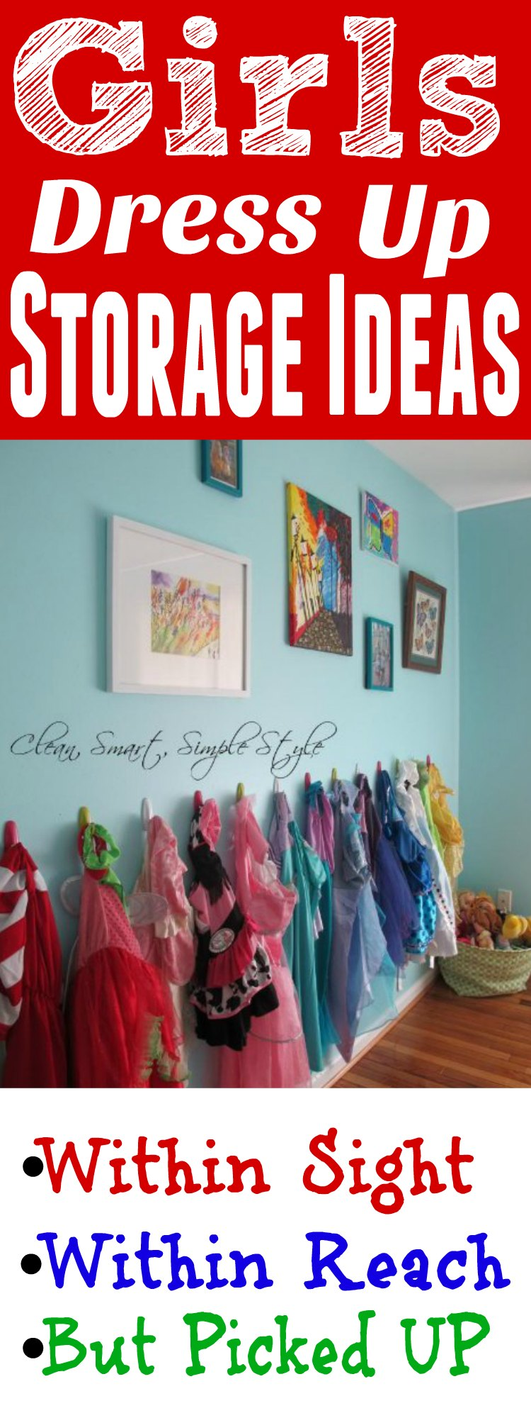 Girls Dress Up Storage Ideas