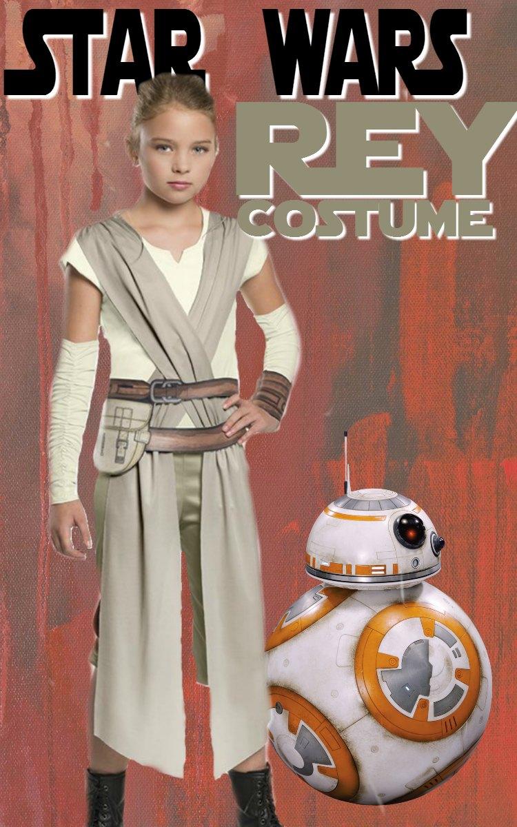 Girls Rey Star Wars Costume