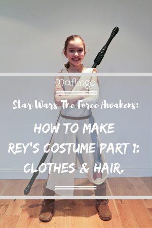 DIY Star Wars Rey Costume for Kids